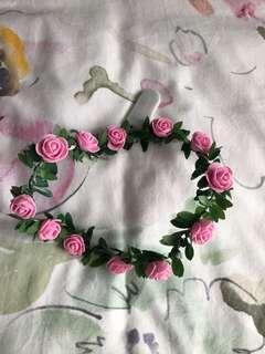 Pink lightup flower crown