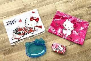 Hello Kitty Sleeve, Zip Pouch and Plate - with free gift