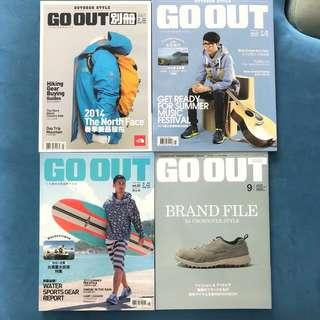 Go Out Magazine x 4 本雜誌 ALL TOTAL $40