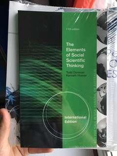 The element of social scientific thinking (11th Ed)
