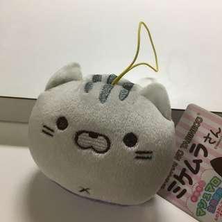 綿花質地 貓公仔 掛飾 灰貓