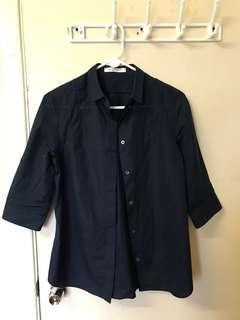Viktor and Rolf Short Sleeve Button Up Blouse