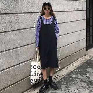 韓系套裝 吊帶裙 條紋襯衫 #十一月女裝半價