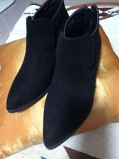 Suede ankle boots size 7.5