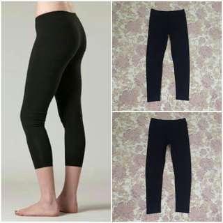UNIQLO Cotton Cropped Legging (Black L)