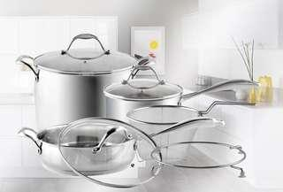 Free Delivery! Sincero 8pcs contemporary cookware