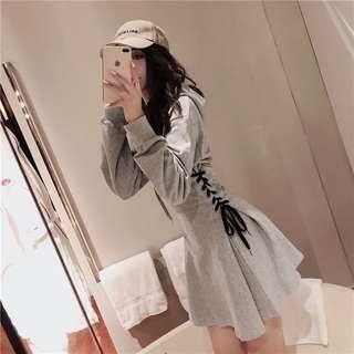 📣連帽心機修身顯瘦連衣裙 #868