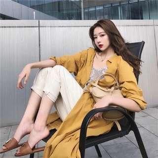 📣舒適收腰顯瘦時尚風衣外套 #868