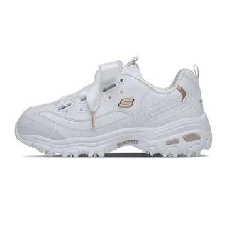 Authentic Skechers D'Lite White Rose Gold