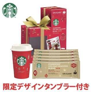 日本直送 starbucks Holiday Seasons Blend星巴克ORIGAMI 2018年聖誕特別版含5包即沖咖啡連有耳杯/ mug茶杯套裝/辦公室桌/家用面只限日本出售限量版全新預訂款,日本限定發售,e,原裝正版5包裝Starbucks coffee連聖誕版杯,,來過一個笠的聖誕節吧!容量:237ml咖啡重量:9.5g一包(共5包)耐熱溫度:120°C耐冷溫度:-20°C購自日本,原装日本品牌商品,品質保證只限順豐寄付 付款後約七個工作天順豐到付
