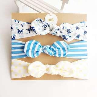 🚚 Instock - 3pc assorted headband, baby infant toddler girl boy