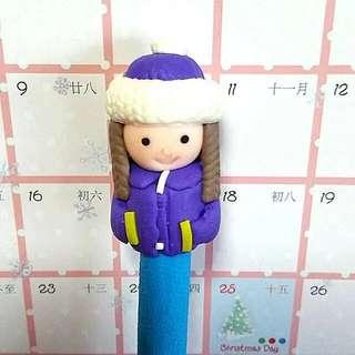 [Christmas Gift Collection] Cute Winter Doll Pen