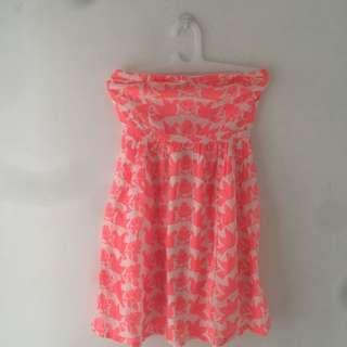 NEW Old Navy Tube Coral Print Dress