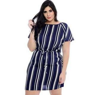 New Stripe Casual Plus-size Dress 🌻