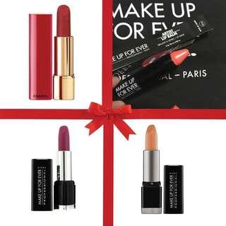 LIPSTICKS NEW!! Chanel & Make Up for Ever