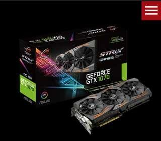 ROG Strix GeForce® GTX 1070 OC edition 8GB GDDR5 with Aura Sync RGB