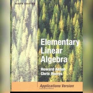 Ebook Elementary Linear Algebra