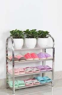 Shoe rack stainless steel multi-layer simple shoe rack receive thickened shoe cabinet assembly dormitory household small shoe rack