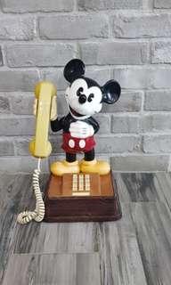 old vintage mickey home telephone landline