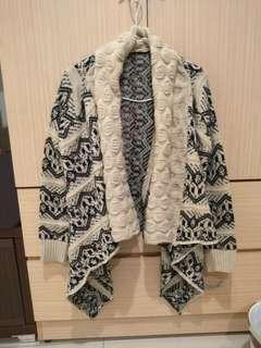 🚚 圖騰針織毛衣罩衫外套