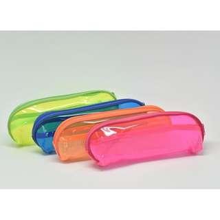 Neon PVC Pencil Case Rectangular (Assorted)