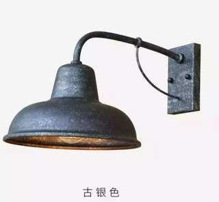🚚 銀色 做舊壁燈