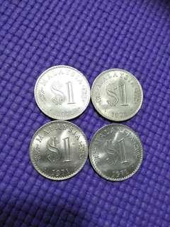 Old Malaysia  unc 1 ringgit  4pc x$12