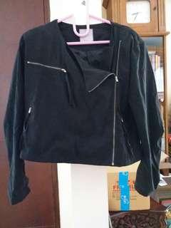 Black semi suede jacket