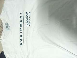 🚚 Adidas EQT tee 白 L