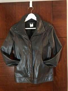 b+ab 皮䄛,Leather Jacket,93% new ,Size 38