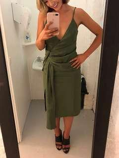 C/meo collective khaki dress