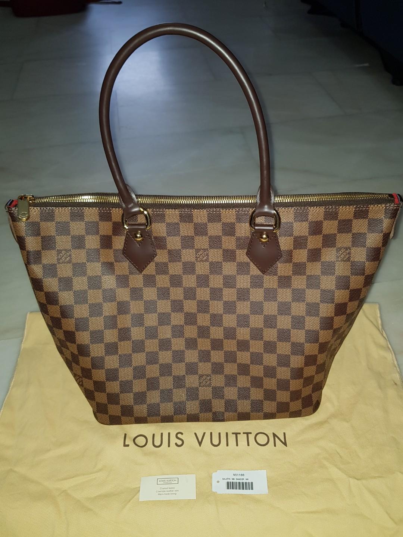100% Authentic Louis Vuitton Bag - Saleya MM Damier NM with Dust Bag ... 4e0b326c66a3d