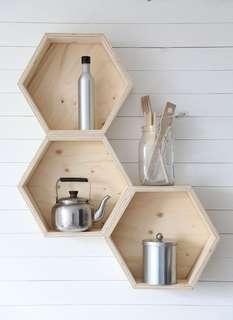 Customize floating wood shelf and table design