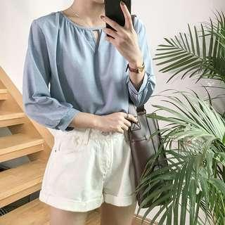 BN Triangle cut out top (blue)