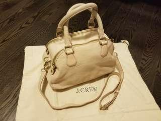 J CREW Leather Bowler Satchel Bag