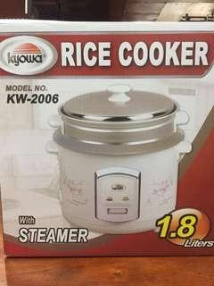 Kyowa rice cooker with steamer 1.8liters