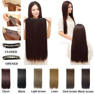 Ready stock black brown Hair Extension