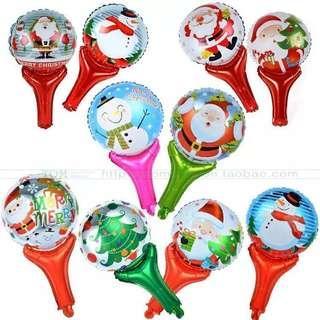 🚚 15個!!聖誕節手拍氣球🎈(未充氣)圖案隨機