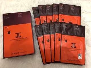 JC JAYJUN Real Water Brightening Black Mask isi 10 pcs