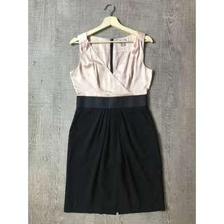 H&M Silky Wrap Top Structured Office Dress