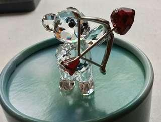 Swarovski Crystal Kris Bear Cupid 2016, ##5136438 New in Box