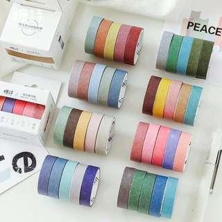 [PO] minimalist plain colour washi tape / masking tape