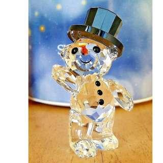 SWAROVSKI CRYSTAL KRIS BEAR CHRISTMAS 2015 ANNUAL EDITION SNOWMAN #5136370 New in Box