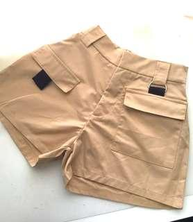 High Waisted Khaki Shorts