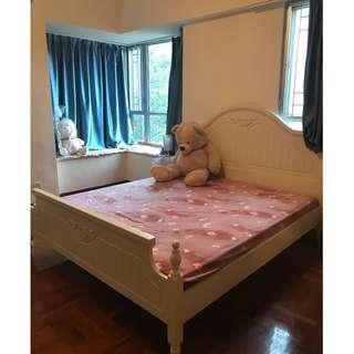 7 feet to 6 feet European king size bed 7尺乘6尺歐式超大雙人床