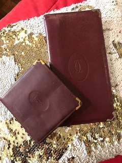 Authentic Vintage CARTIER Wallet Bundle