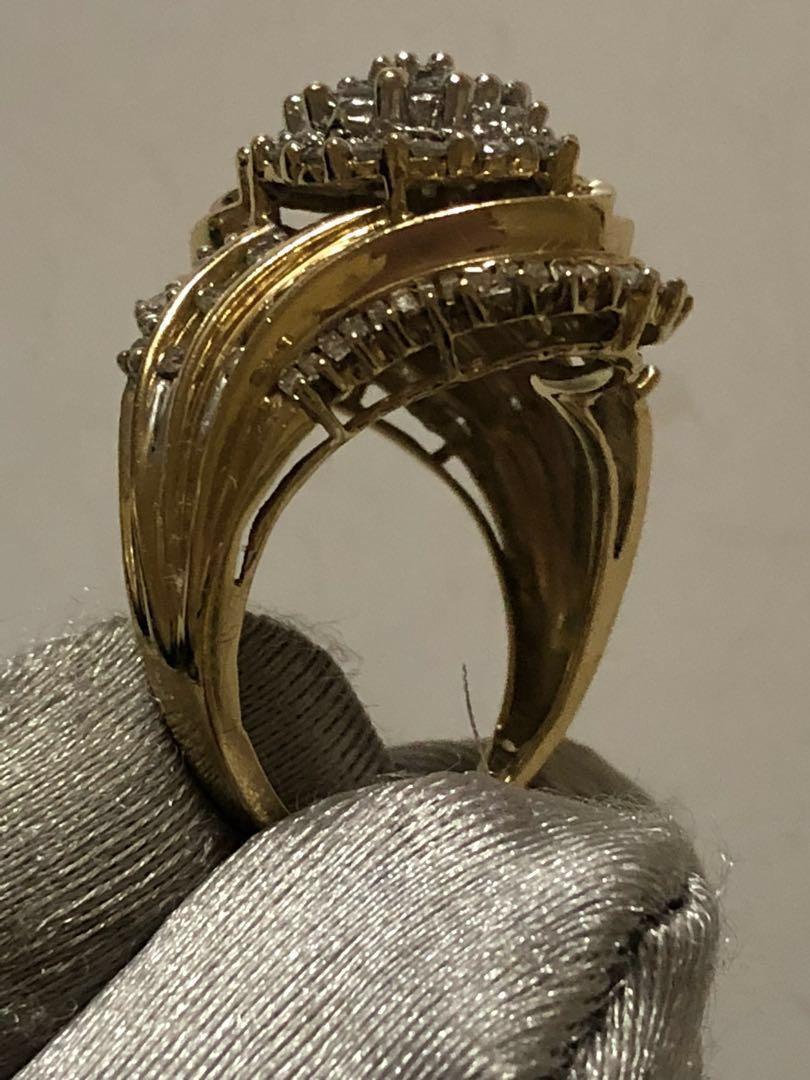 10k gold with 1.5 CT diamonds
