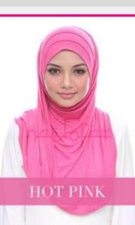 Naelofar babes n basic plain hot pink