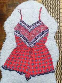 Red Playsuit #MY1212