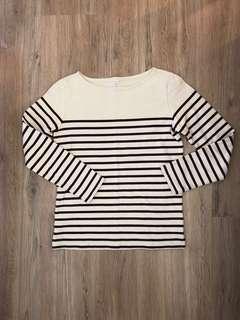 🚚 Muji長袖條紋T-shirt